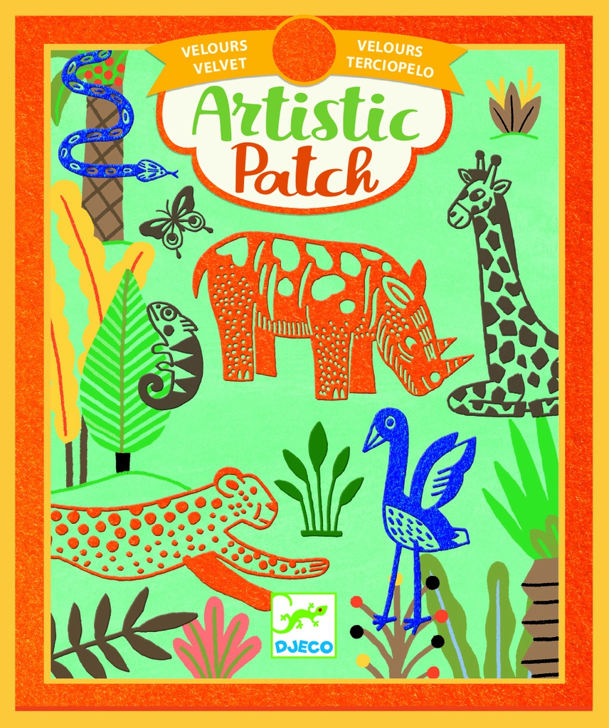 Artistic Patch Velvet - Wilderness Design by by Djeco