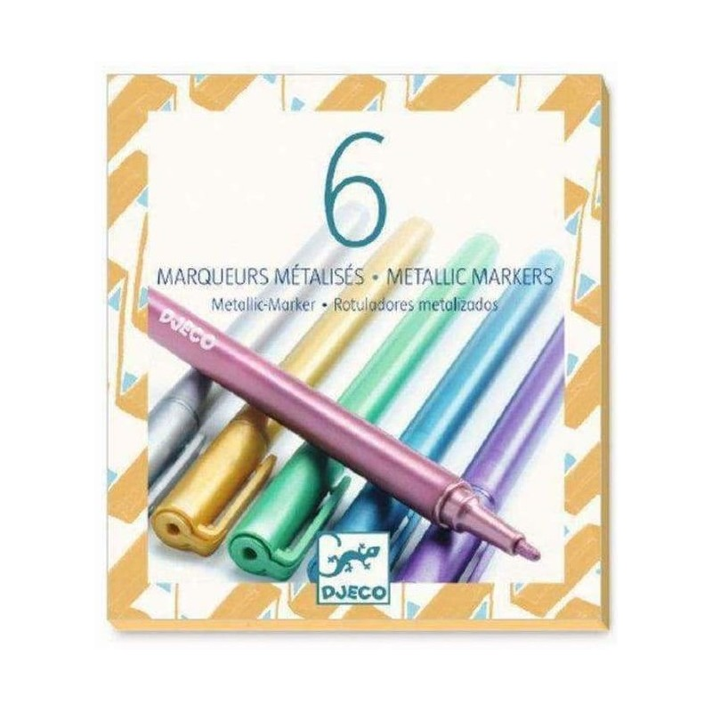 6 Metallic Markers Design By By Djeco
