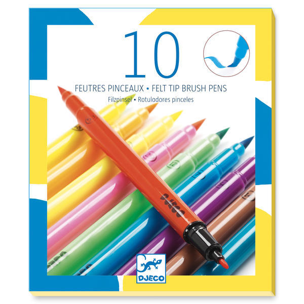 10 Felt Brushes - Pop Colours  Design By By Djeco