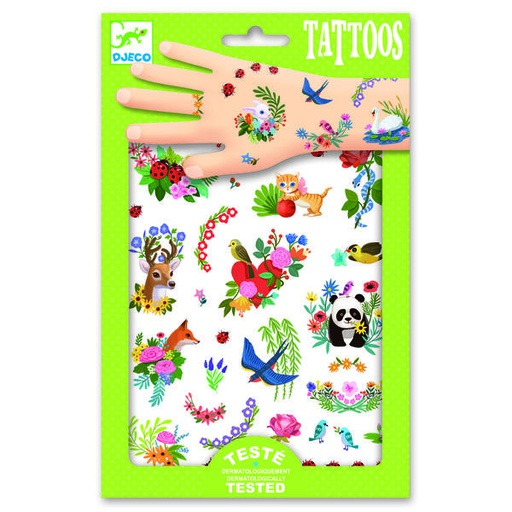[DJ09591] Happy spring Tatoo Design by Djeco
