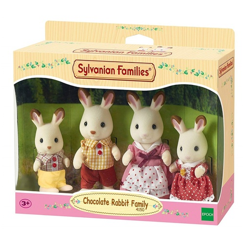 [4150] Chocolate Rabbit Family Sylvanian Families