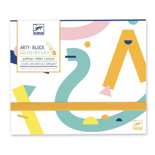 [DJ08787] Arty Block - Painting Paper Design By By Djeco