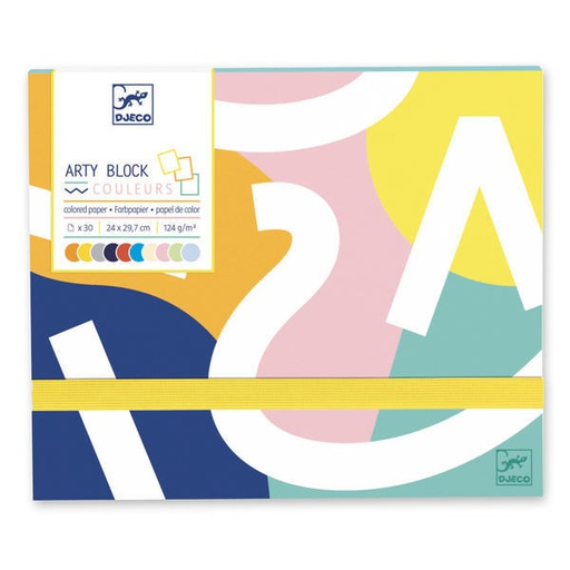 [DJ08788] Arty Block - Colored Paper Design By By Djeco
