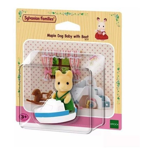 [5137] Maple Dog Baby With Boat Sylvanian Families