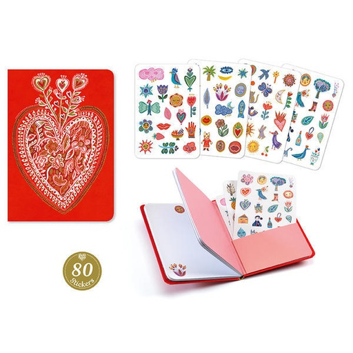 [DD03577] Aurelia Stickers Notebook  Lovely Paper By Djeco