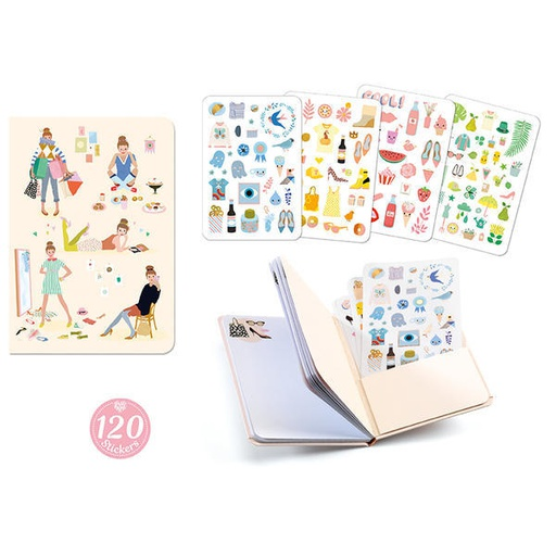 [DD03578] Tinou Stickers Notebook Lovely Paper By Djeco