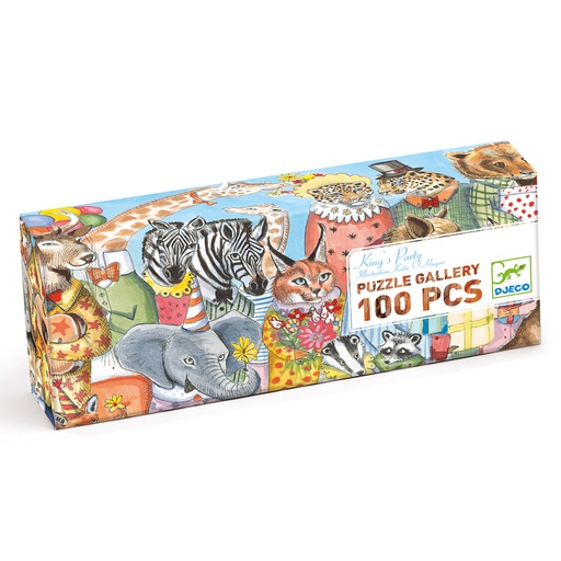 [DJ07639] Puzzle Galery - King Party - 100 Pcs  Djeco