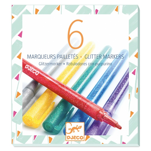 [DJ08871] 6 Glitter Markers Design By By Djeco